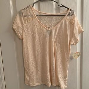 NWT light yellow tshirt